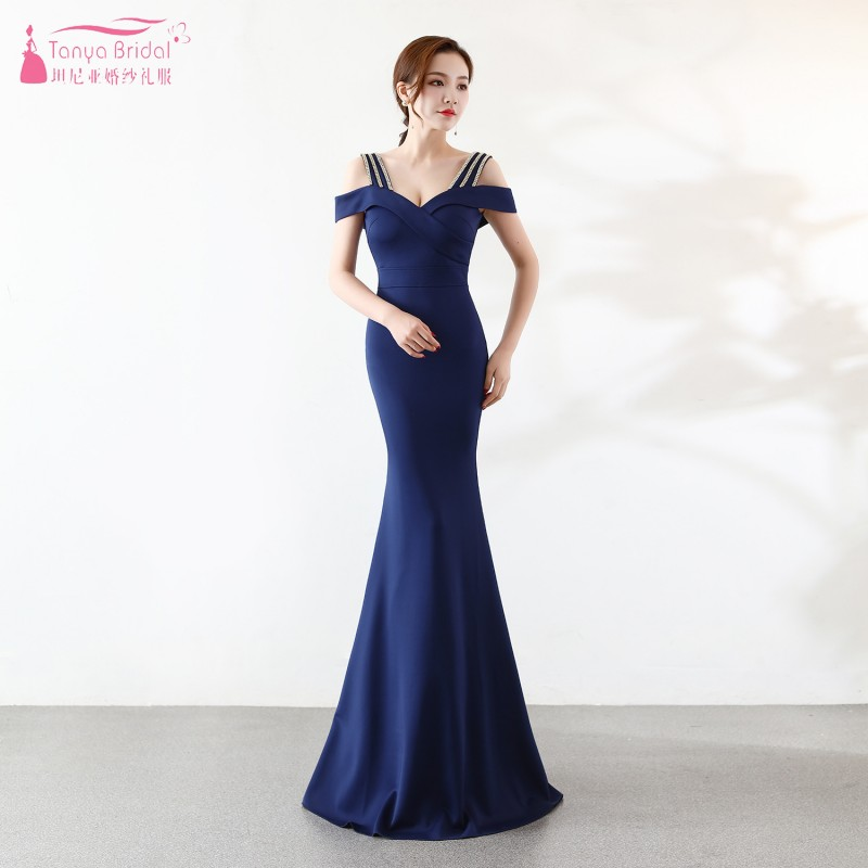 Mermaid Long   Bridesmaid     Dresses   Sweetheart White Women Formal   Dress   vestido de festa longo Wedding Guest   Dress   JQ133