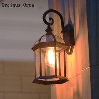 الأمريكية الإبداعية شخصية LED في الهواء الطلق زجاج الجدار مصباح فناء شرفة الممر الأوروبي الرجعية LED مصباح جداري مضاد للماء