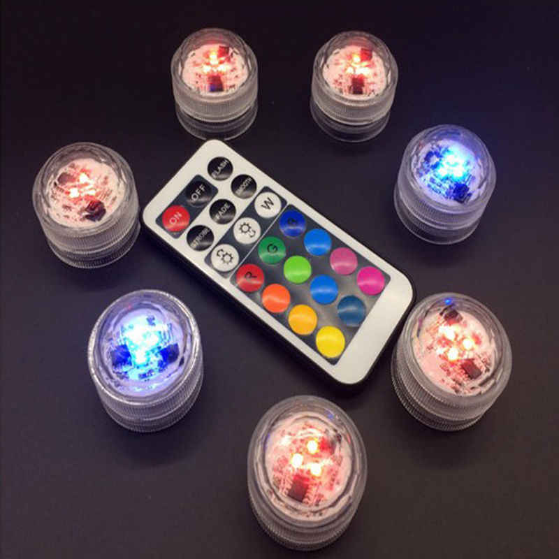 High Quality Waterproof Luminous Circular Candle Remote Control LED Candle Light Change To Battery Remote Candle Discus Light