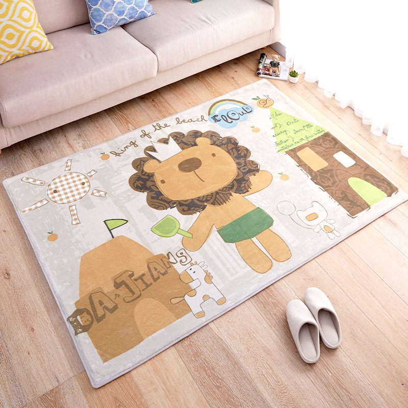 120x170cm soft lion children bedroom rugs and carpets cute carpets for living room coffee table. Black Bedroom Furniture Sets. Home Design Ideas