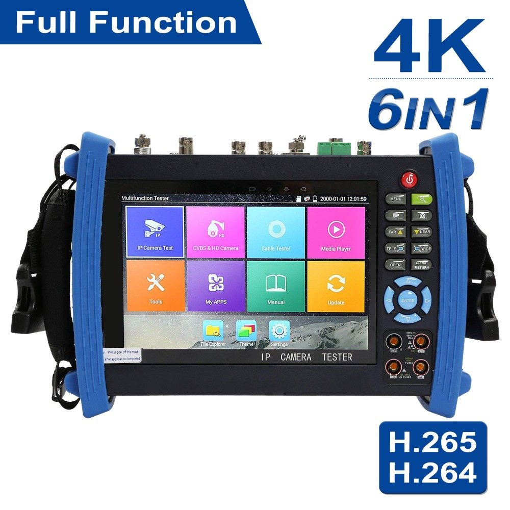 цена на Anpviz 7 Inch 4K H.265 IP/CVBS/CVI/TVI/AHD All-in-1 CCTV Tester IP Camera Monitor 5MP Analog Camera Testing PTZ UTP Cable Tester
