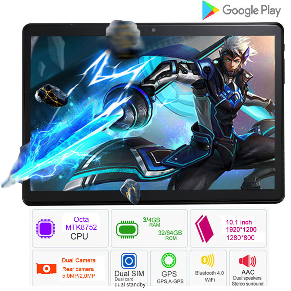 2018 Google Android 7.0 OS 10.1 inch tablet Octa Core 4GB RAM 64GB ROM tablets 10 10.1 Brand BMXC