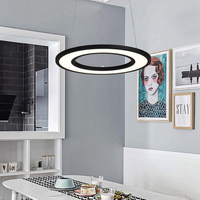 White/Black Modern LED Pendant Lights For Dining Living Room lamparas colgantes pendientes Hanging Lamp suspension luminaire