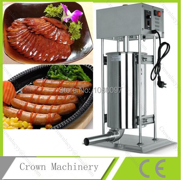 Stainless steel 15L electric Sausage stuffer machine;Sausage filler for sale
