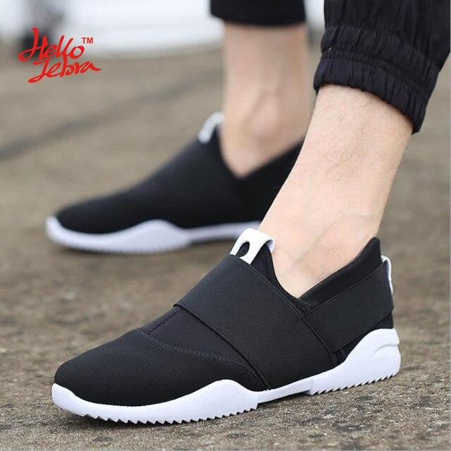 Hellozebra Men Casual Shoes Breathable Board Flats Soft Shoe Set Foot A Pedal Lazy Tide Mesh Students Shoes 2016 Autumn New
