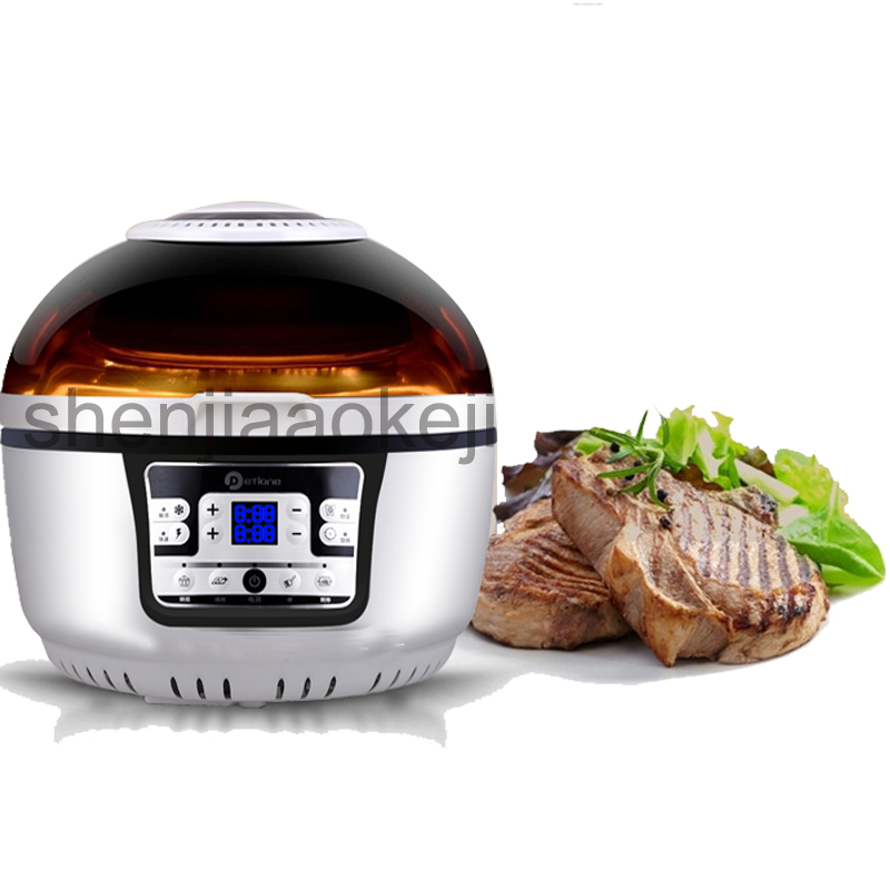 3D air fryer household electric fryers intelligent large-capacity multi-fryer oil-free French fries machine 220v 1300w1pc 2 6l air fryer without large capacity electric frying pan frying pan machine fries chicken wings intelligent deep electric fryer