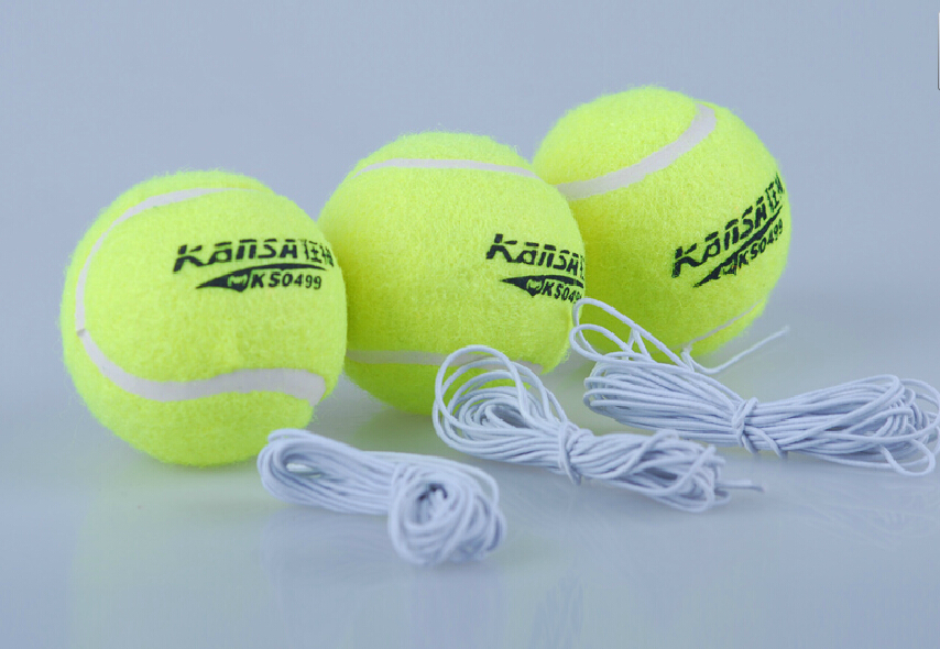 5pcs/set With Elastic Rope Tennis Trainer Single Train Training Durable Ball Balls Tool Partner For Beginner