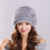 Casquillo Del Sombrero de Piel de Visón Real Con Decoración de Flores Sombreros Para las mujeres A Estrenar Caliente Casquillo Hembra Invierno Gorros de Punto de Visón tapas