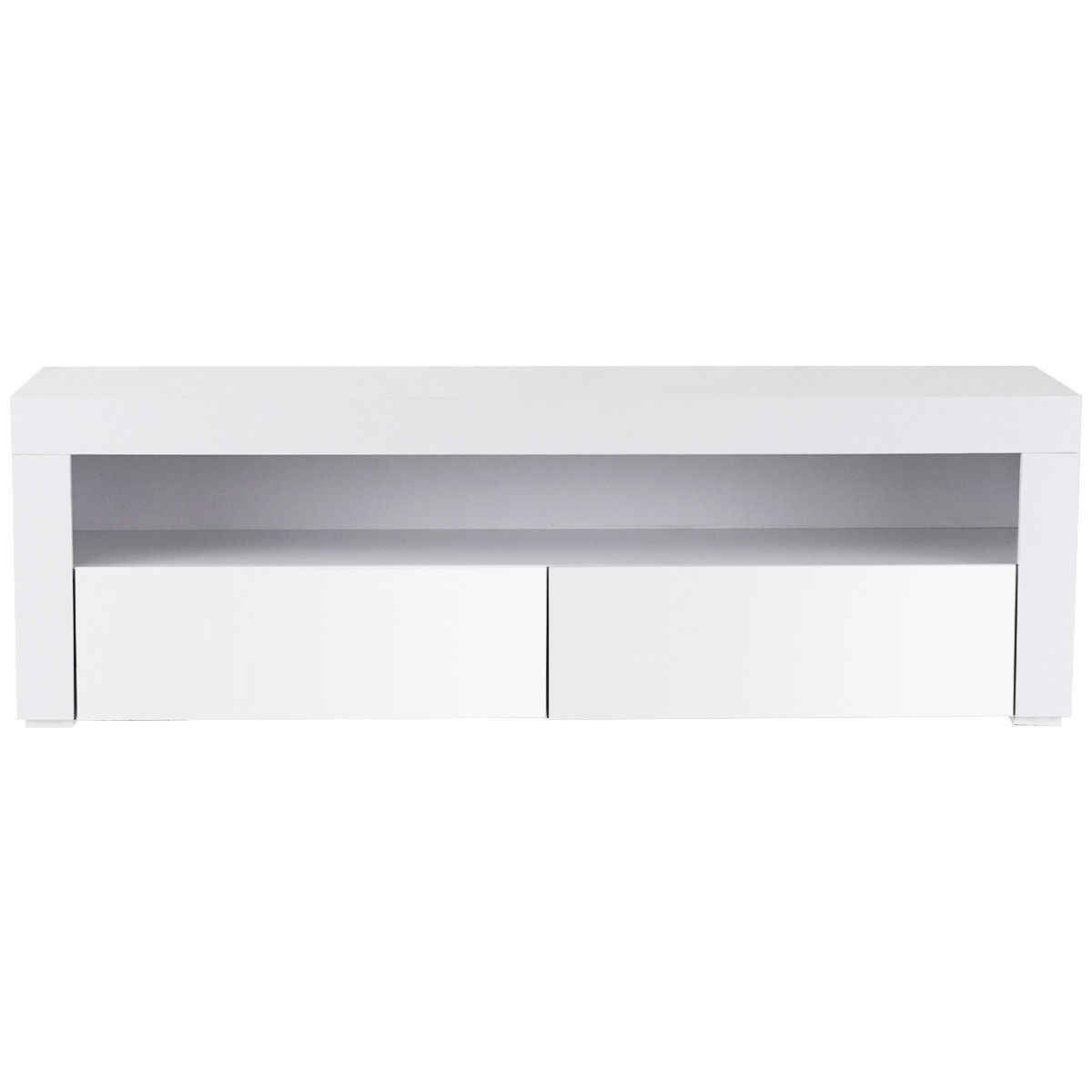 Off White Tv Meubel.Giantex Living Room Tv Stand Unit Cabinet Console Furniture With Led Shelves And Drawers Modern White Tv Stand Hw56643wh
