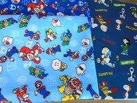 100*140 CM patchwork tessuto della Tela di canapa Del Fumetto gioco Super Mario sacchetto di scuola tessuto per Bambini Tessuto della tenda tessili per la casa per il Cucito