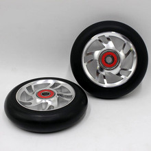 1PCS Freestyle Stunt Scooter 100mm Wheels With High Elastic Wear-resisting PU Alloy Core ABEC-9 bearings 88A Roller Ski Wheels