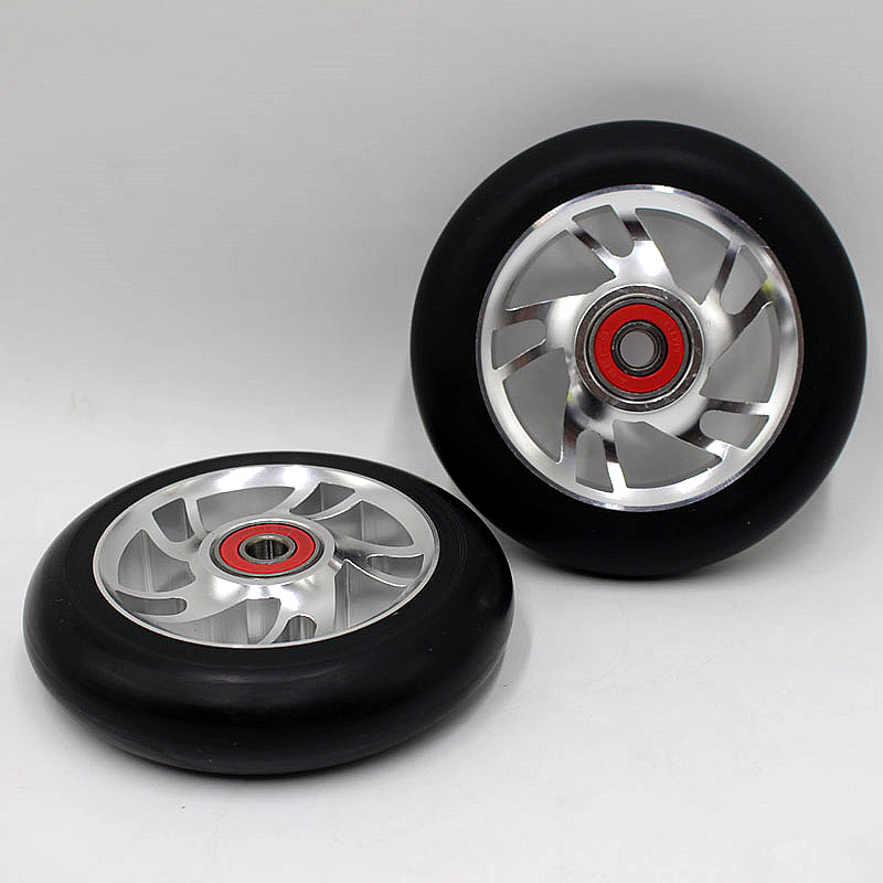 1PCS Freestyle Stunt Scooter 100mm Wheels With High elastic Wear-resisting PU ABEC-9 bearings 88A Roller Ski wheels 2015 new design freestyle stunt scooter in hot selling