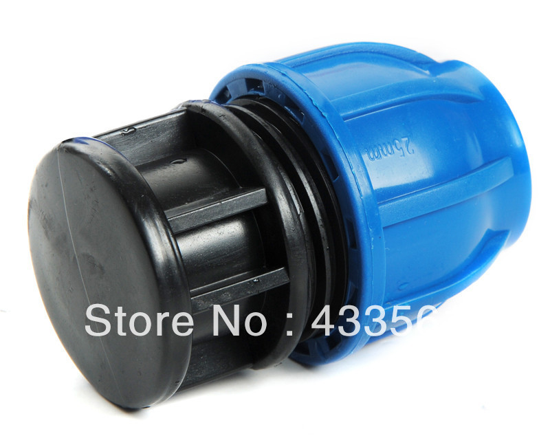Quality pp compression end cap fittings with round