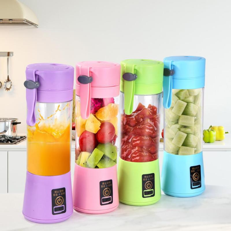 Rechargeable Blender Juicer Mixer-Juice-Machine Mini Handheld 380ml USB
