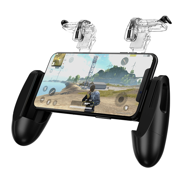 GameSir F2 Game Firestick Grip for Android & iOS Phone, 2 Triggers, Game Mount Bracket Trigger Fire Button Aim Key F PUBG Mobile