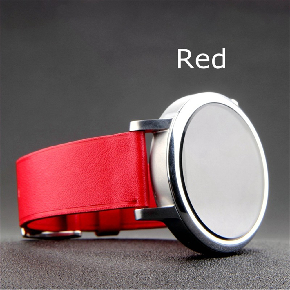 Watchband For Pebble Time Round Smartwatch Man Woman Leather Watch Red Band Wrist Strap 14mm 20mm
