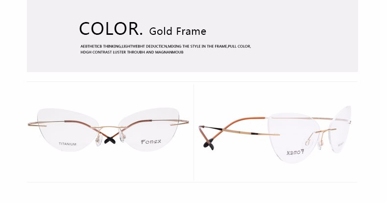 rimless women cat eye glasses silhouette fashion eyewear eyeglasses (4)