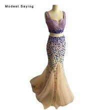 Real Vestidos de Baile 2017 con Diamantes de Imitación de Lujo Sirena Cariño 2 Unidades BE54 Formales Sexy vestidos de Baile Vestidos vestidos de baile