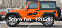 2 PACK 4x4 Decal Off Road Stickers Parts For Pickup Truck