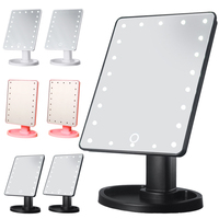 16LED/22LEDMirrors 360 Degrees Adjustable Rotation Makeup Mirror Lighted Portable Luminous Cosmetic Mirrors