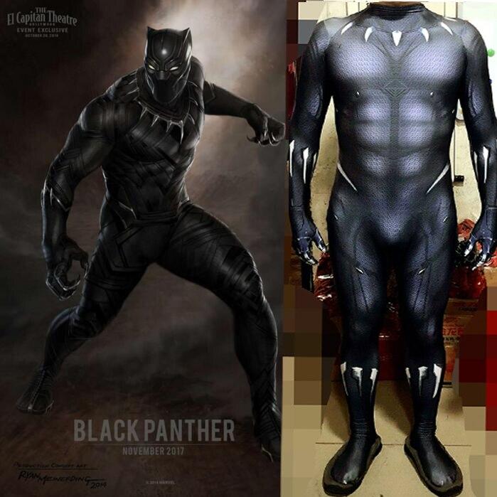 Black Panther Costumes Kids Men Halloween Costume Captain America Civil War Movie Marvel Black Panther cosplay SuperHero Suit