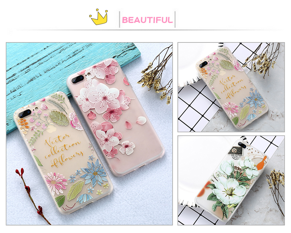 flower patterned case for iPhone 6 6s 7 Plus (7)