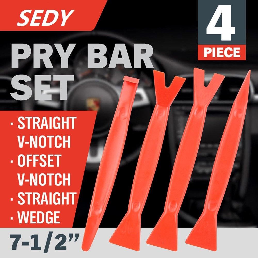 SEDY 4Pcs Kit di strumenti per la rimozione delle rifiniture per auto - Utensili manuali - Fotografia 1