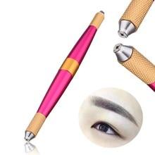 Manual Tattoo 3D Fog Eyebrow Embroidery Pen Tattooing Machine Guns Dual Tip Tebori Pen Permanent Makeup Cosmetic Munsu Kit