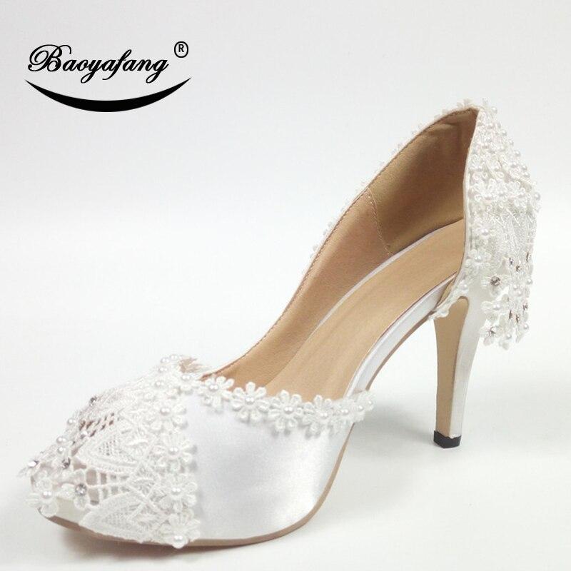 Shoe Dentelle Nouveau Arrivent Dames Ouvert 10cm Bout Mariée Pompes 5cm Shoe 8cm Sangle Plate Cheville Chaussures Shoe Toe Blanc up À forme 2019 Fringe Weddding Peep Femme qFAWq0