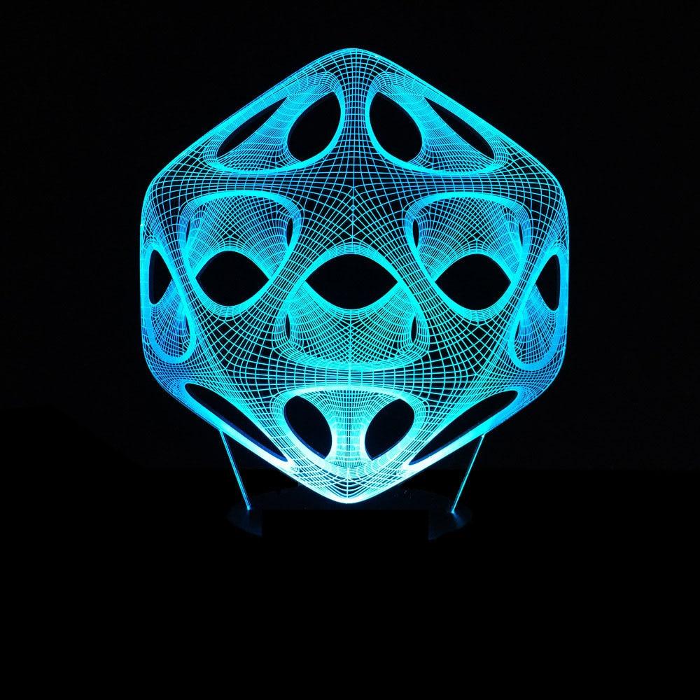 3D Modern Art Ball Optical Illusion Lamp Night Light 7 RGB ...