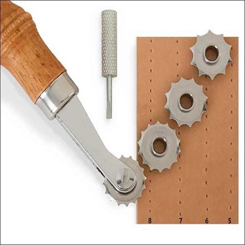 1 SET Leathercraft Leather Craftool Spacer Set DIY Handmade Leather Art Tools American Spacing Wheel