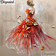 Dispaint Full Square/Round Drill 5D DIY Diamond Painting Oil painting beauty Embroidery Cross Stitch 3D Home Decor Gift A10707