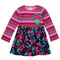 Nova vestidos para niña ropa del bebé al por menor 2016 vestido floral vestido de la muchacha de rayas de alta calidad ropa de los niños del desgaste del niño