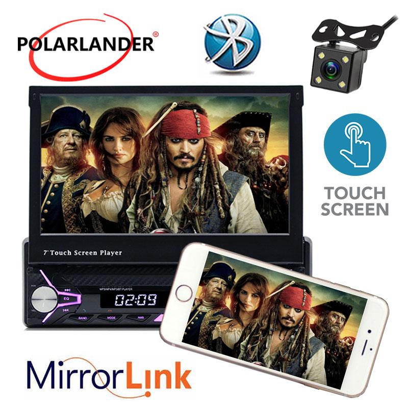 7 inche Autoradio HD Bluetooth ecran tactile Mp5 support MP3/USB/carte SD 1 Din radio cassette lecteur