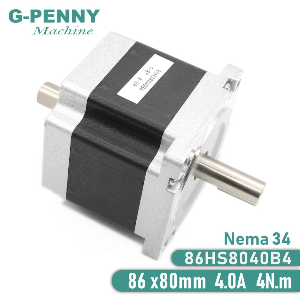 NEMA 34 CNC Stepper Motor 86x80mm 4.0A Dual Shaft Nema34 Stepping Motor For CNC Wood Working MachineNEMA 34 CNC Stepper Motor 86x80mm 4.0A Dual Shaft Nema34 Stepping Motor For CNC Wood Working Machine