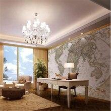 Papel de paredeMural Dolly mural moda mapa del mundo pared papel tapiz de fondo papel parede párr quarto wallpaper para paredes 3 d