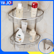 Bathroom Shelf Corner Shelf Caddy Shampoo Organizer Double Layer Stainless Steel Bathroom Shelves Shower Storage Rack Wall Mount srj bathroom corner shelf 304 stainless steel bathroom toiletries storage rack single double rustproof storage triangle shelf