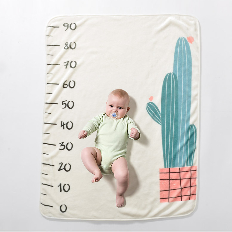 Infant Baby Milestone Blanket Photo Photography Prop Blankets Backdrop Cloth Calendar Boy Girl Photo Accessories 70*102CM 1