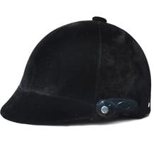 Профессиональный велюровый унисекс шлем для верховой езды, половина покрытия, безопасная Спортивная Кепка, оборудование для верховой езды 50-60 см, защита головы