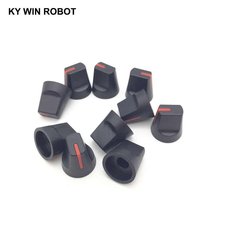 10PCS 6mm Potentiometer Plastic Knob Red