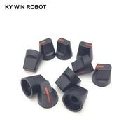 potentiometer knob 10PCS 6mm Potentiometer Plastic Knob Red (1)