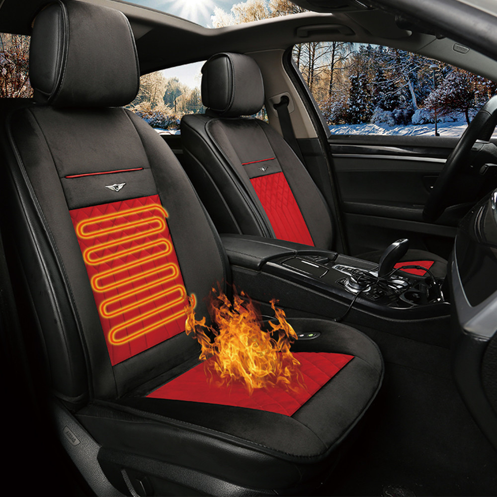 2018Warm Car Seat Cushion Covers Cold Days Heated Seat Cover Auto Car 12V 24V Seat Heater Heating Pad Auto supplies car styling