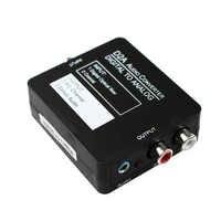 DAC Digital óptico Coaxial a analógico convertidor de audio estéreo, adaptador Digital a analógico para XBox PS4 Home Cinema Systems AV Amps