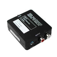 DAC Digital Optical Coaxial to Analog Stereo Audio Converter, Digital to Analog Adapter for XBox PS4 Home Cinema Systems AV Amps