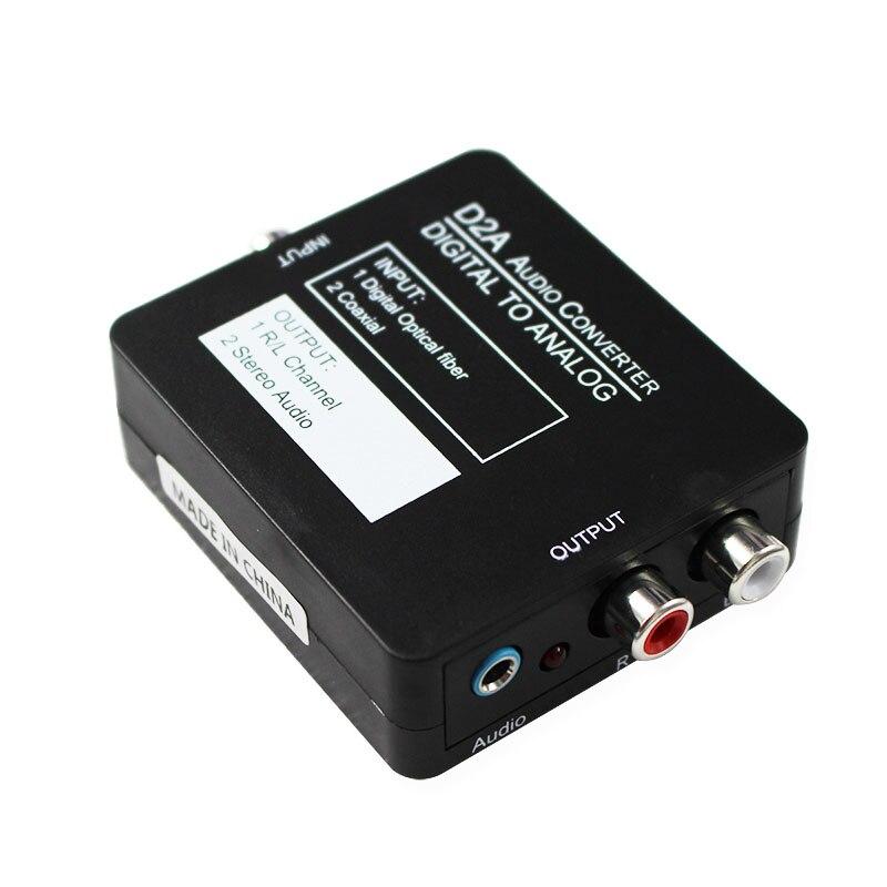 DAC Digitale Coassiale Ottico ad Analogico Audio Stereo Converter, digitale ad Analogico Adattatore per XBox PS4 Sistemi Home Cinema AV Amps