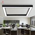 Светодиодные алюминиевые потолочные светильники современный квадратный проект подвесные светильники настроить офис Конференц-зал гостин...