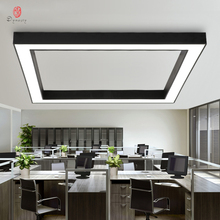 LED Aluminum Ceiling Lights Modern Square Project Hanging Customize Office Hotel Meeting Room Creative Decorative