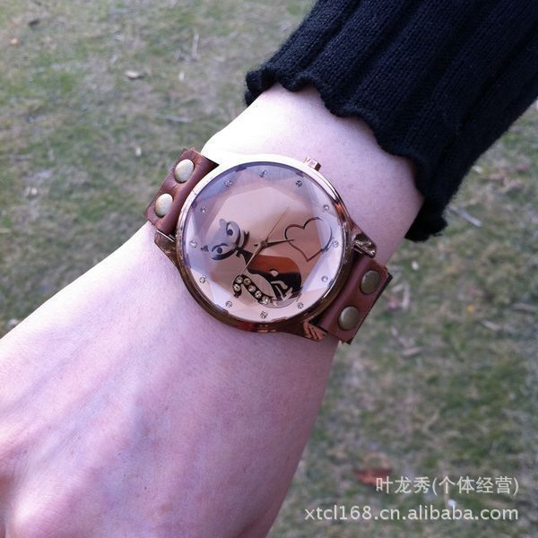 Free shipping antique vintage chain female watches antique style student timepieces geniune leather strap