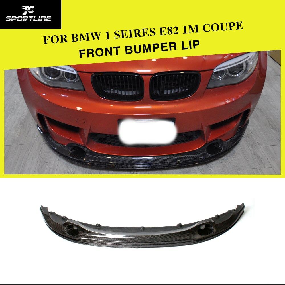 Carbon Fiber Front Bumper Lip Spoiler Splitters for BMW 1 Series E82 M 1M Base 1M Coupe 2-Door 2012UP