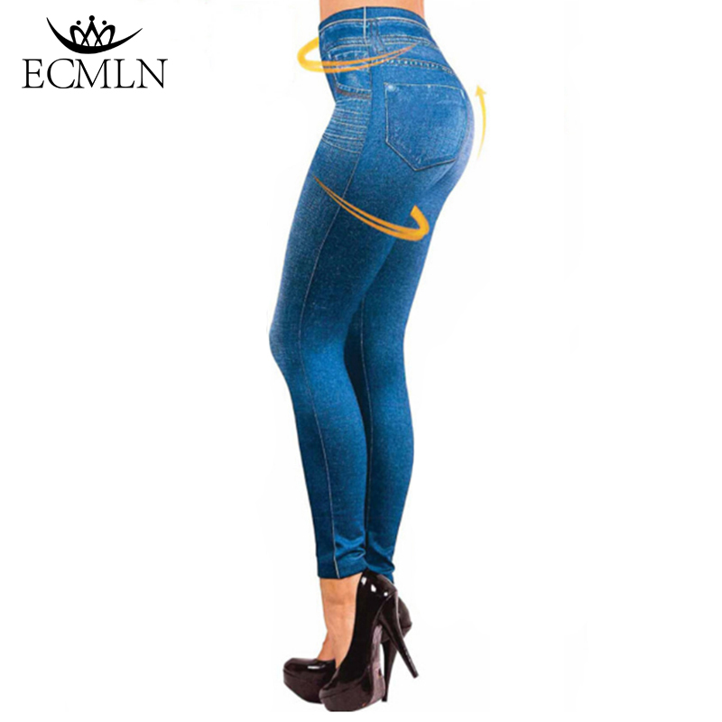 Dropship Leggings Jeans for Women Denim Pants with Pocket Slim Jeggings Fitness Plus Size Leggins Hot Sale